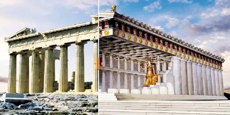 Cómo era el Partenón antes de ser destruido y su reconstrucción moderna
