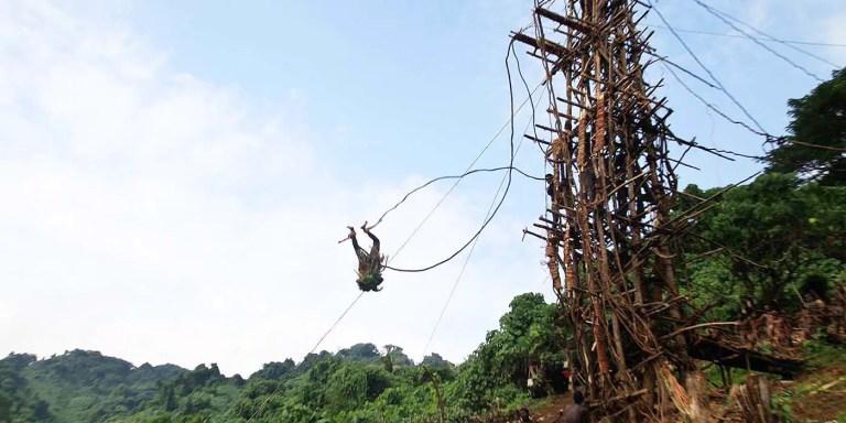 La tribu Vanuatu y el puenting o salto bungee más extremo del mundo