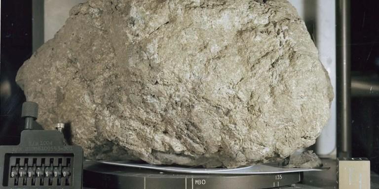 Cómo se recolectó la roca lunar más grande traída a la tierra, roca 61016