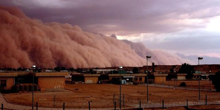 Tormentas de arena en Iraq.