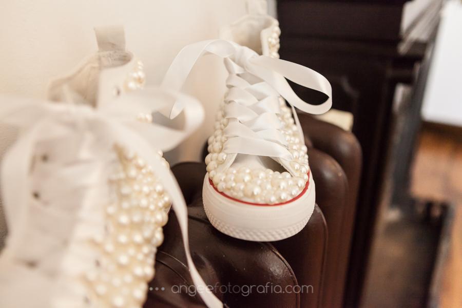Preparación de la novia. Zapatos Converse