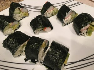 My homemade California Rolls