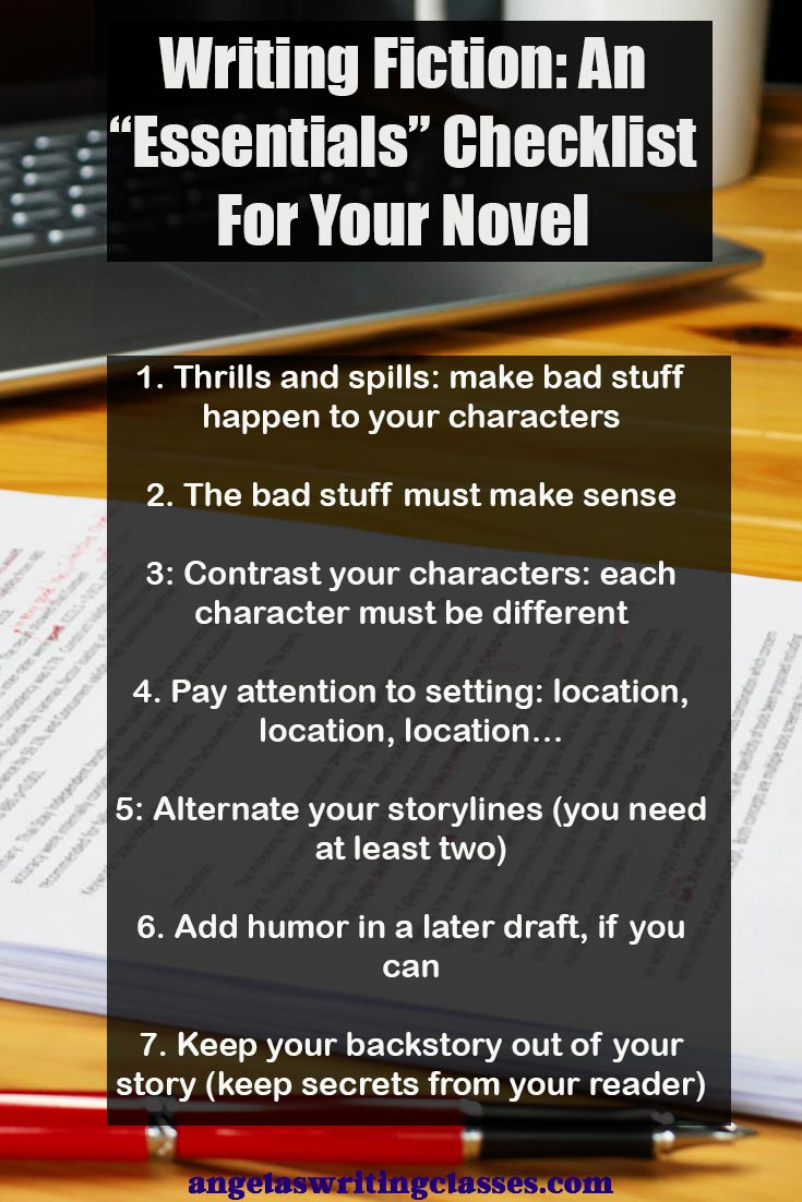 Fiction writing checklist for novels