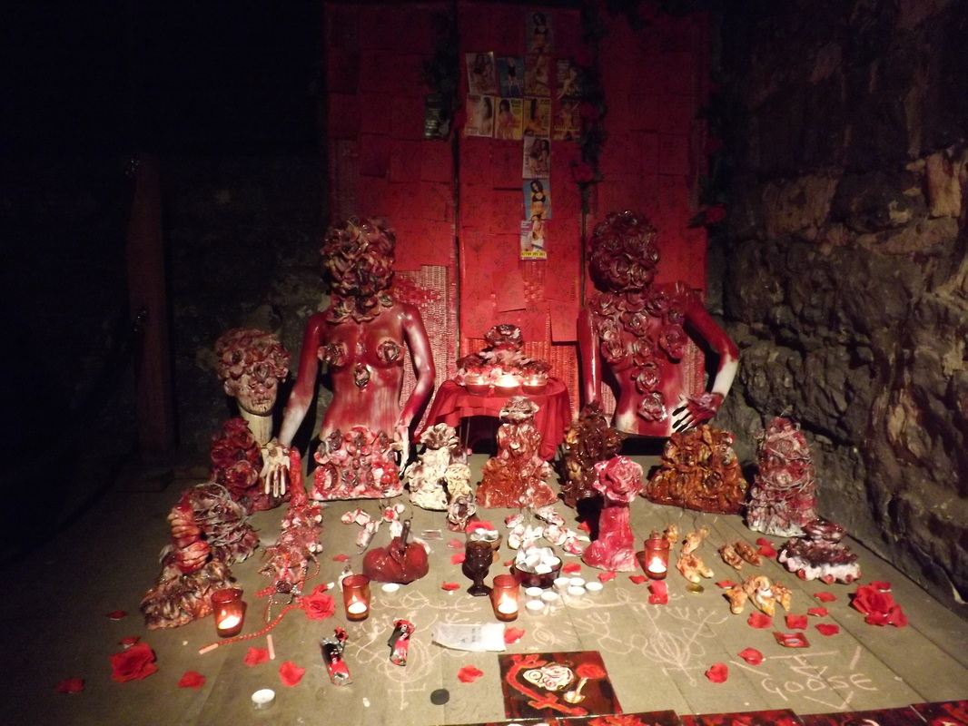 Pomba Gira Shrine, site specific installation, Hackney Tower, London 2014