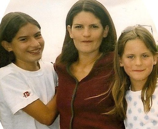 My two eldest daughters when they were approaching their teens and me when I was thin!!