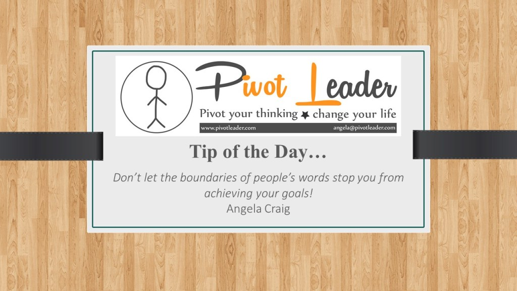 Tip of the Day…The power of other people's words