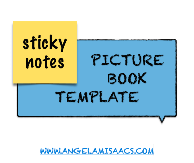 Sticky Note Picture Book template
