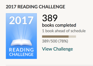 2017 Goodreads Books reading challenge status