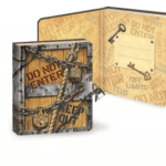"Diary with a lock: cover design shows chains and the words ""Do Not Enter"""