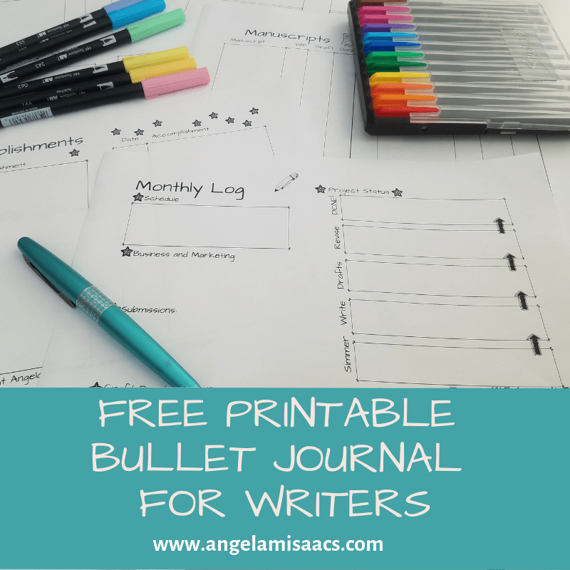 picture regarding Free Printable Bullet Journal identify Totally free: Printable Bullet Magazine Inserts for Writers Angela
