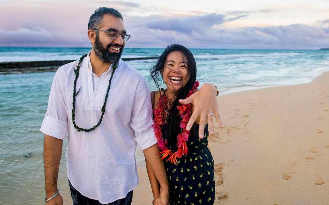 Gorgeous North Shore Maui Beach Proposal | Kristie + Tagh