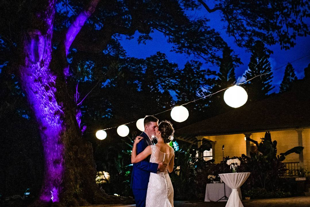 first dance after dark at olowalu plantation house
