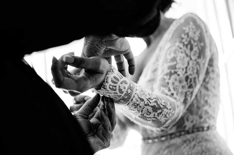 long sleeved wedding dress lace detail