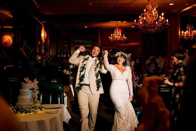 grand entrance at five palms maui wedding