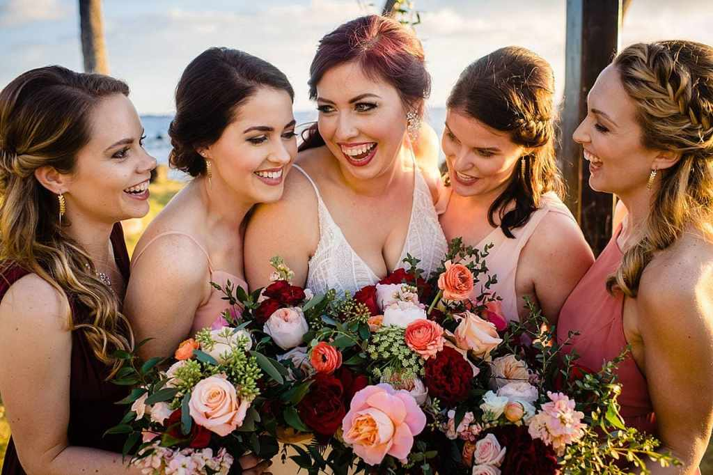 bridesmaids portraits at white orchid beach house