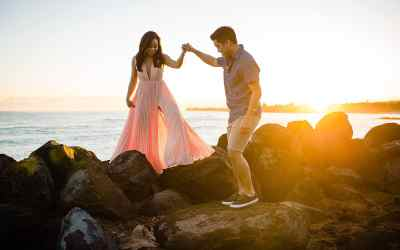 Sunrise Maui Engagement Photographer