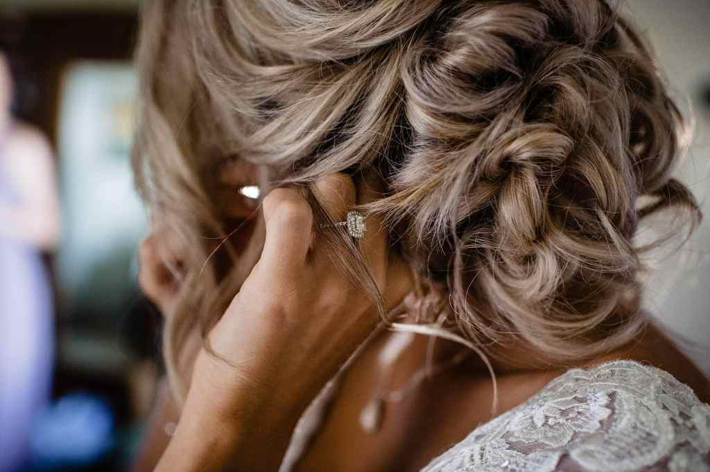 loose updo bridal hair
