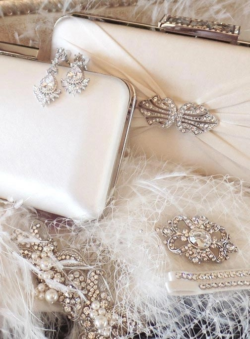 Accesories brooches handbags and straps
