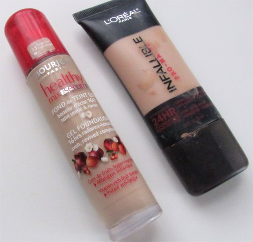 Bourjois and L'Oreal Foundations