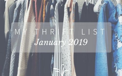 Thrift List January 2019