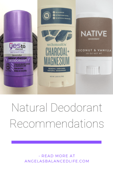 My Natural Deodorant Recommendations