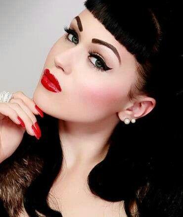 los angeles vintage pinup makeup artist angela tam victory rolls rockabilly hair stylist