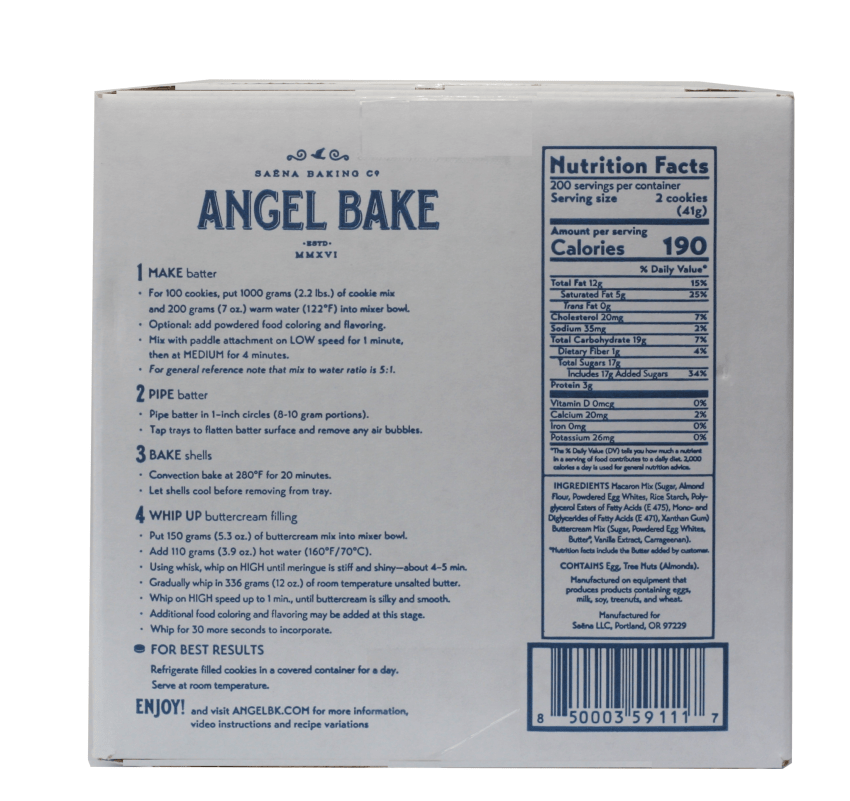 Angel Bake Macaron Mix Food Service PKG