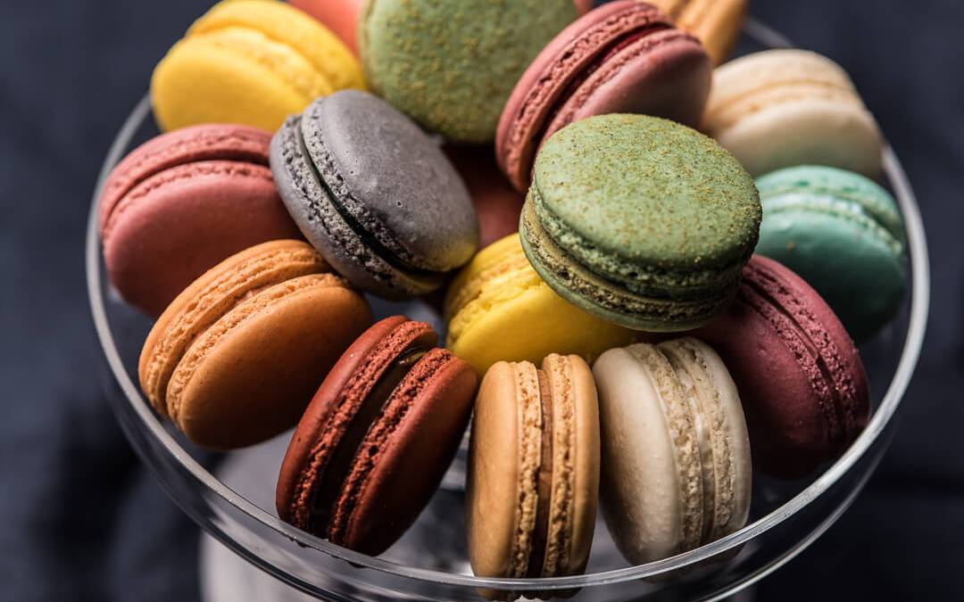 Assortment of French Macarons made with the Angel Bake French Macaron Mix.