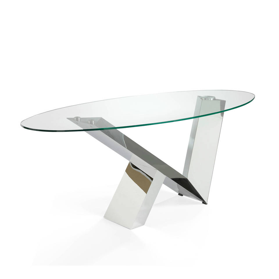 Table Manger Avec Plateau En Verre Tremp Angel Cerd