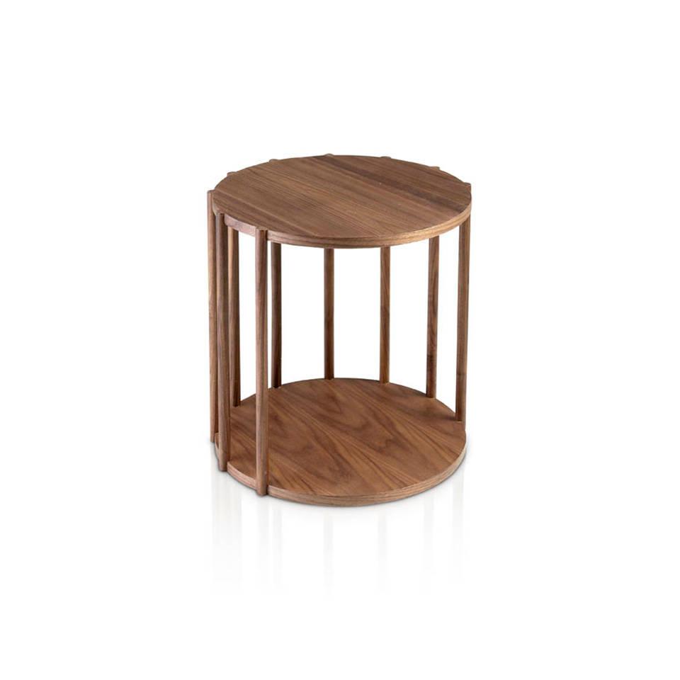 es mesa de rincon de madera chapada en nogal en walnut veneered wooden corner table fr table d angle en noyer plaque de ecktisch aus