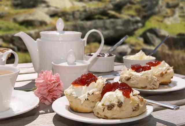 Cream tea in your cabin   Angel Cottage Holiday Cabins   Log Cabin Rental, Sudbury, Suffolk