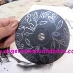 Manualidad con CD Reciclado terminado diseño 1