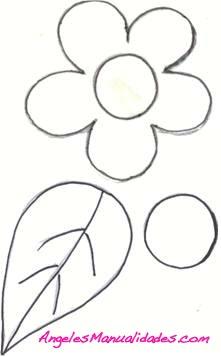 Marcador de Libros de Foamy con Diseño de Flor: Patrón