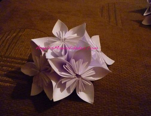 Flor para el árbol de navidad: Paso 12