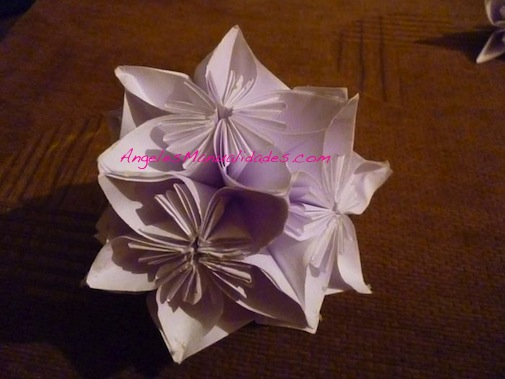 Flor para el árbol de navidad: Paso 14