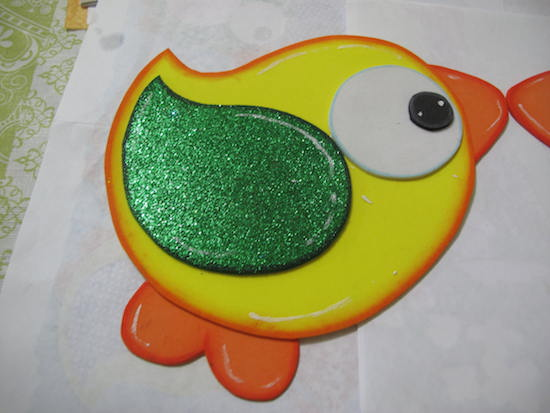 Pajarito de goma eva para sala de clases angeles - Pinturas para goma eva ...