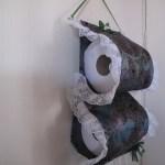 Práctico porta papel higiénico en tela