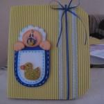Invitación de Bautizo hecha a mano