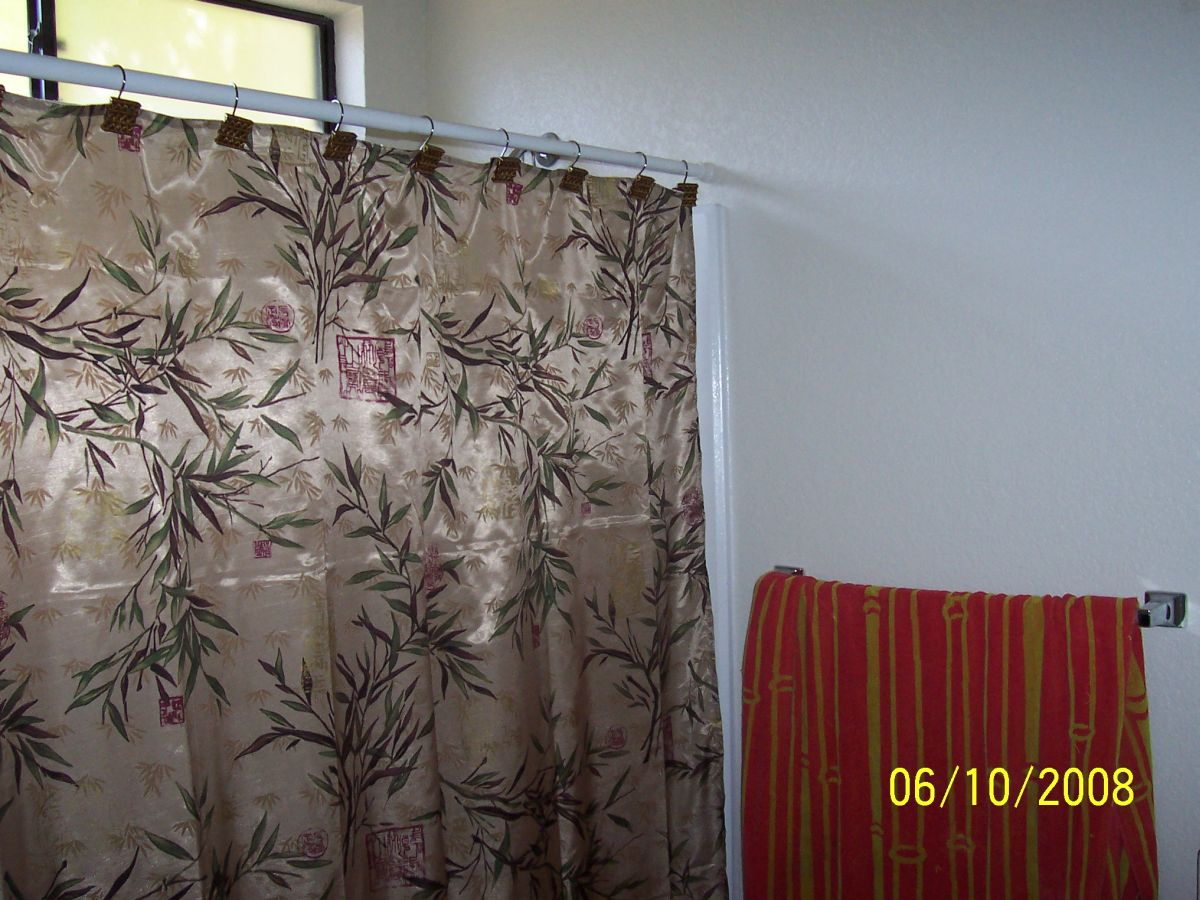 The Beautiful Bamboo And Asian Theme Shower Curtain