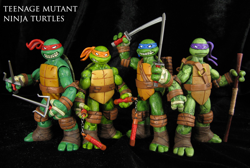 Custom TMNT Metal Head And Triceraton Jin Saotome