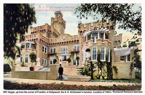 Old Postcard Of Castle Sans Souci Site Of Some Exterior