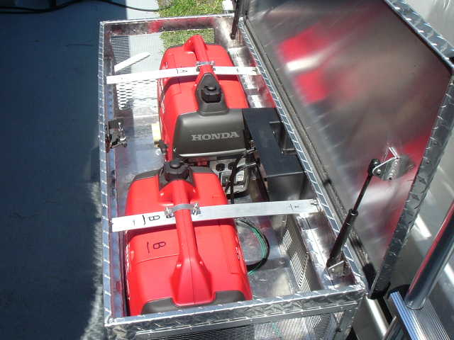 portable generator mounted on the back