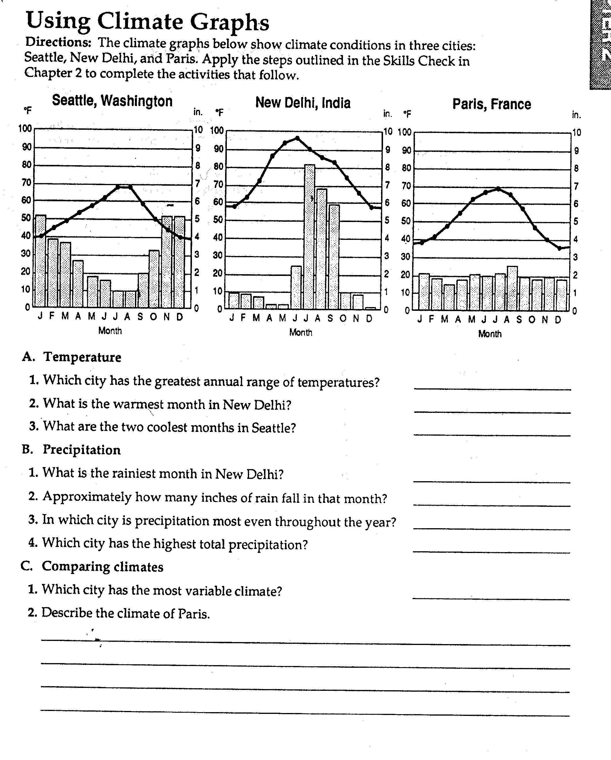 Geography Worksheet New 582 Geography Worksheets Climate