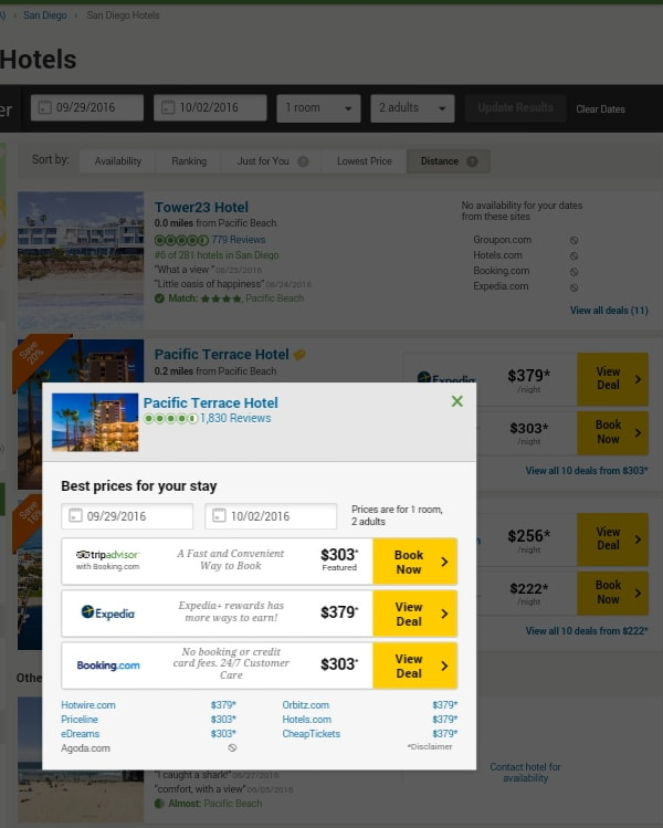 Compare all rates from Tripadvisor.