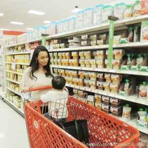Getting Gerber Cereal at Target.