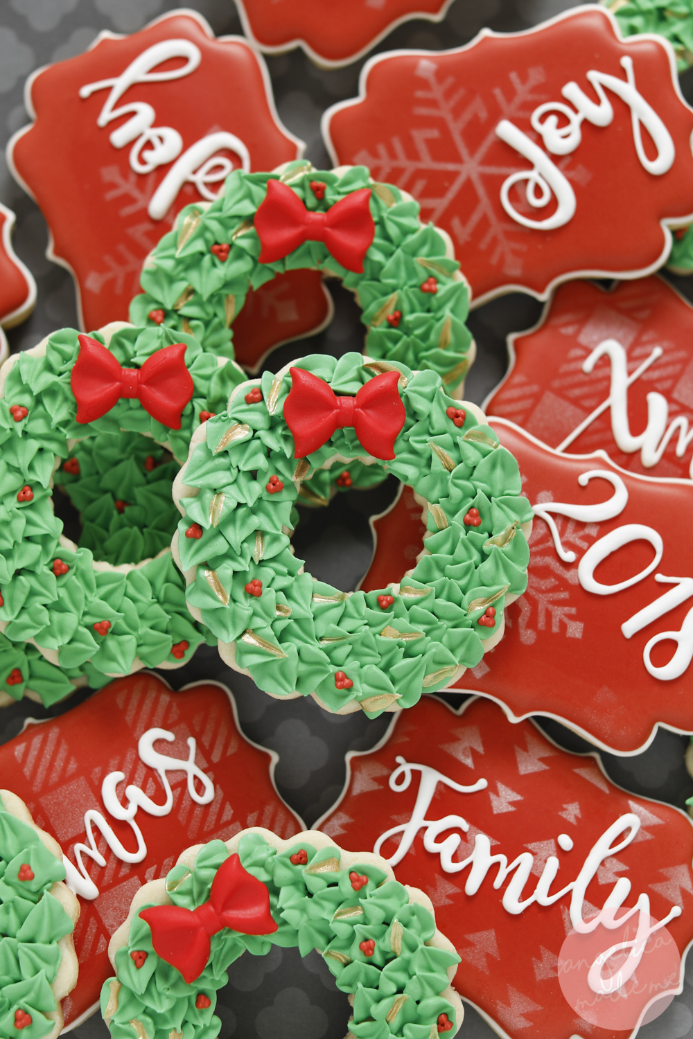 Christmas Wreath Cookies Angelicamademe