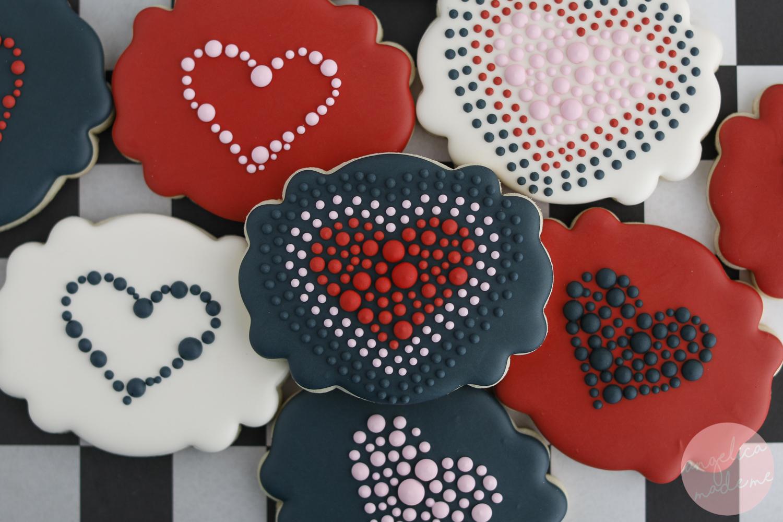 Valentine's Day Heart Cookies - AngelicaMadeMe