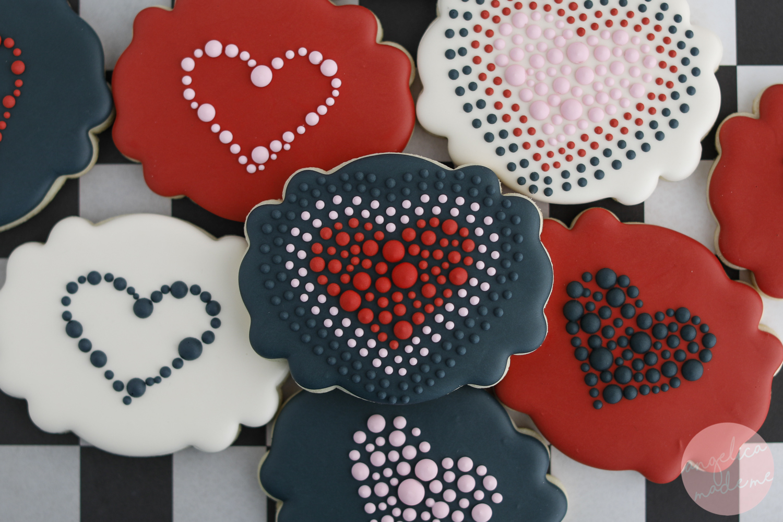Valentine's Day Heart Sugar Cookies