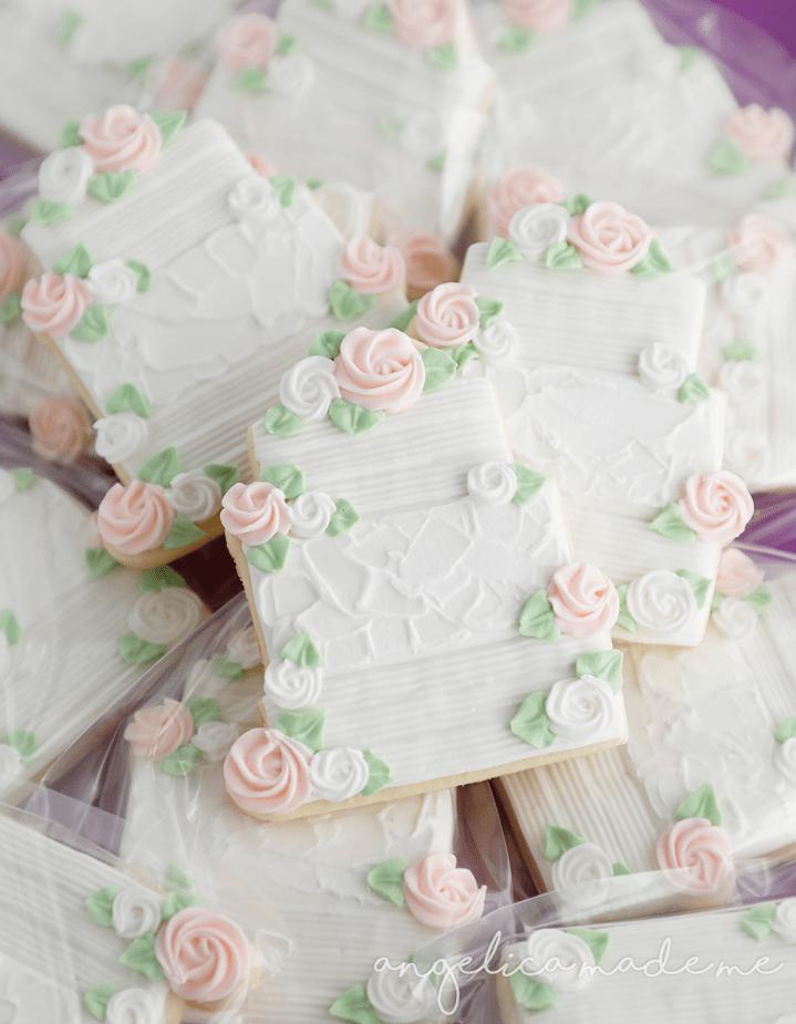 Custom Decorated Wedding Cookies Angelicamademe