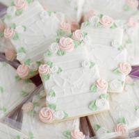 Custom Decorated Wedding Cookies
